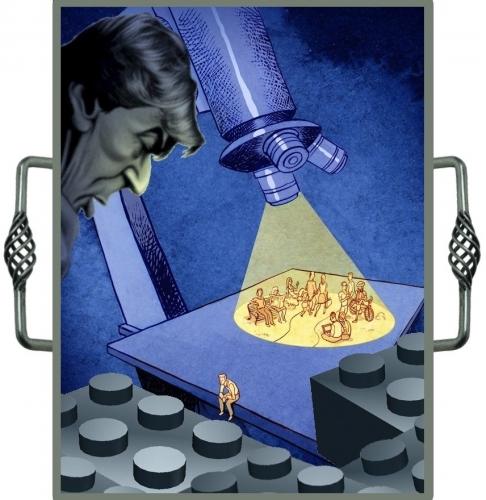 La lunette d'un microscope... avec de belles poignées d'argent..jpg